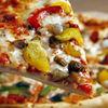 Pizza cu doua feluri de ardei gras