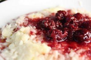Budinca de orez cu fructe uscate
