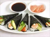 Din bucătăria japoneză: Temaki Sushi (Rulouri de mână)