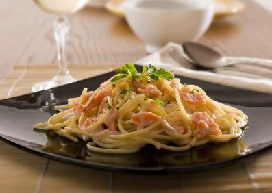 Spaghete cu somon