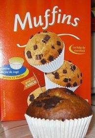 muffins cu ciocolata si rom