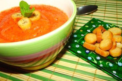 Gazpacho cu portocala