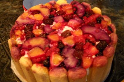 Tort diplomat din branza dulce si fructe