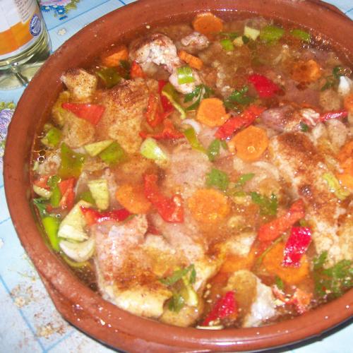 friptura de pui la cuptor cu cartofi