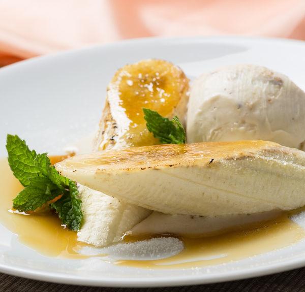 Desert cu banane şi vanilie