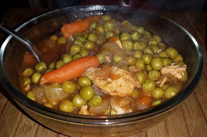Mâncare de mazăre cu piept de pui