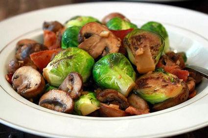 Varză de Bruxelles cu ciuperci
