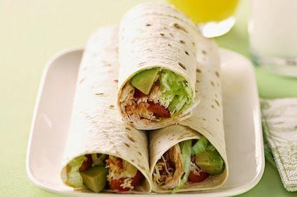 Burrito cu pui şi avocado