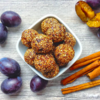 Trufe cu prune uscate, fulgi de ovăz și scorțișoară