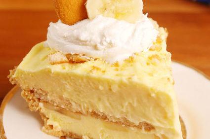 Cel mai bun cheesecake fără coacere cu banane și budincă