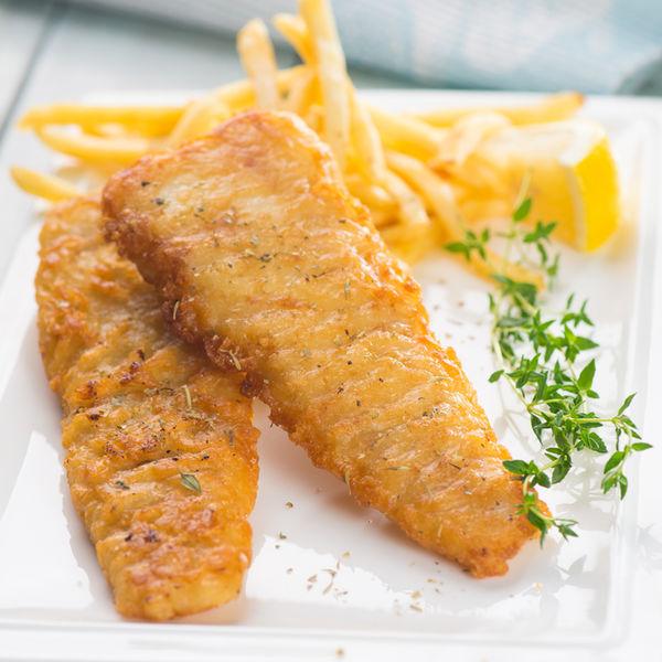 File de pește în crustă crocantă
