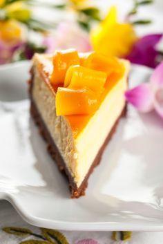Cheesecake cu mango şi lime