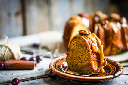 Prăjitură cu nucă și caramel